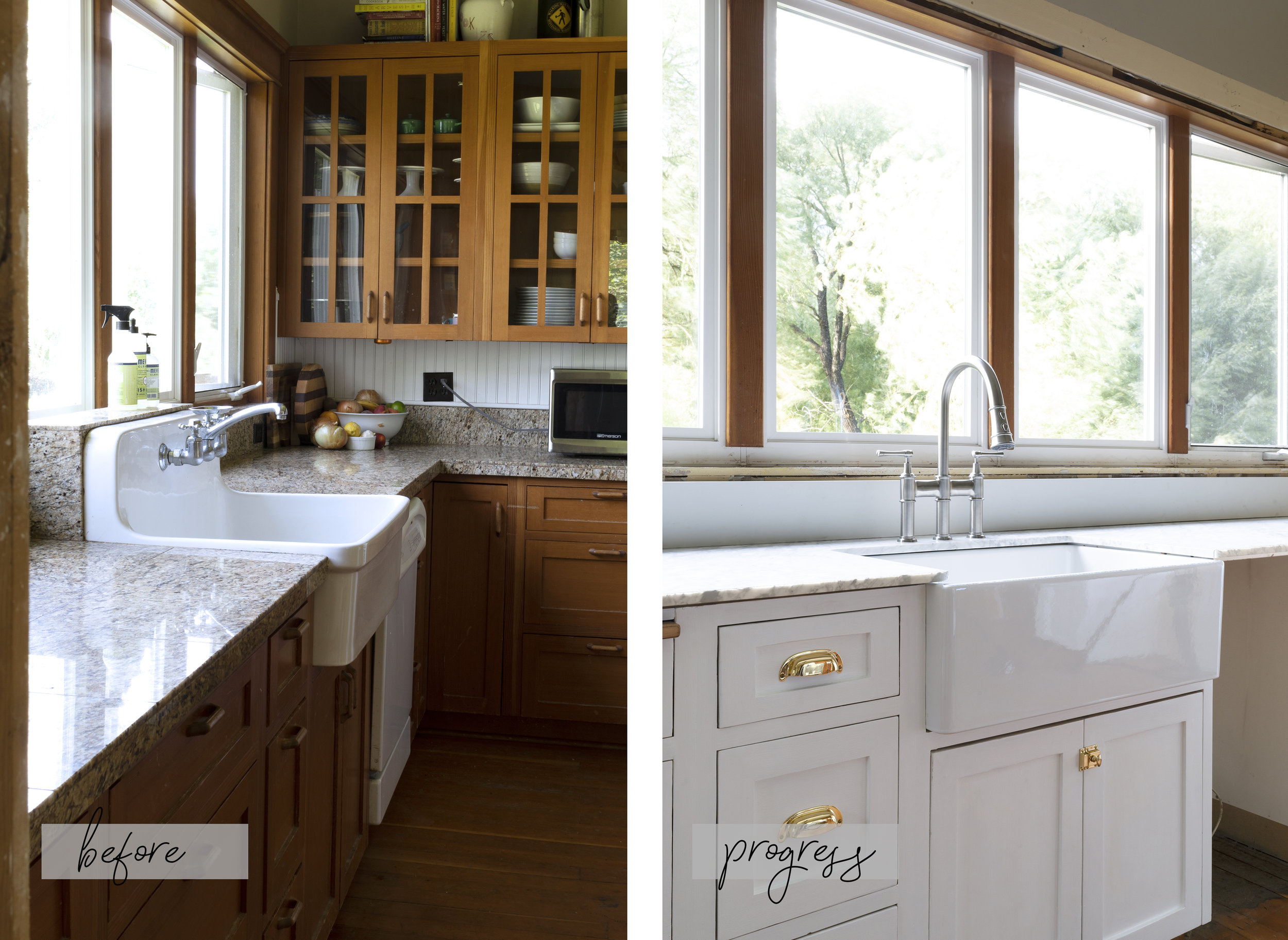 The Grit and Polish - Farmhouse Kitchen Sink BEFORE + AFTER.jpg