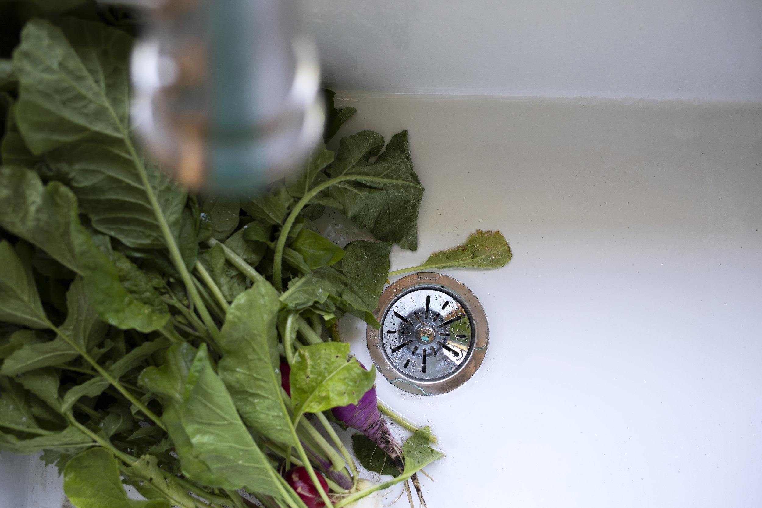 The Grit and Polish - Farmhouse Kitchen Update Elkay Sink Drain.jpg