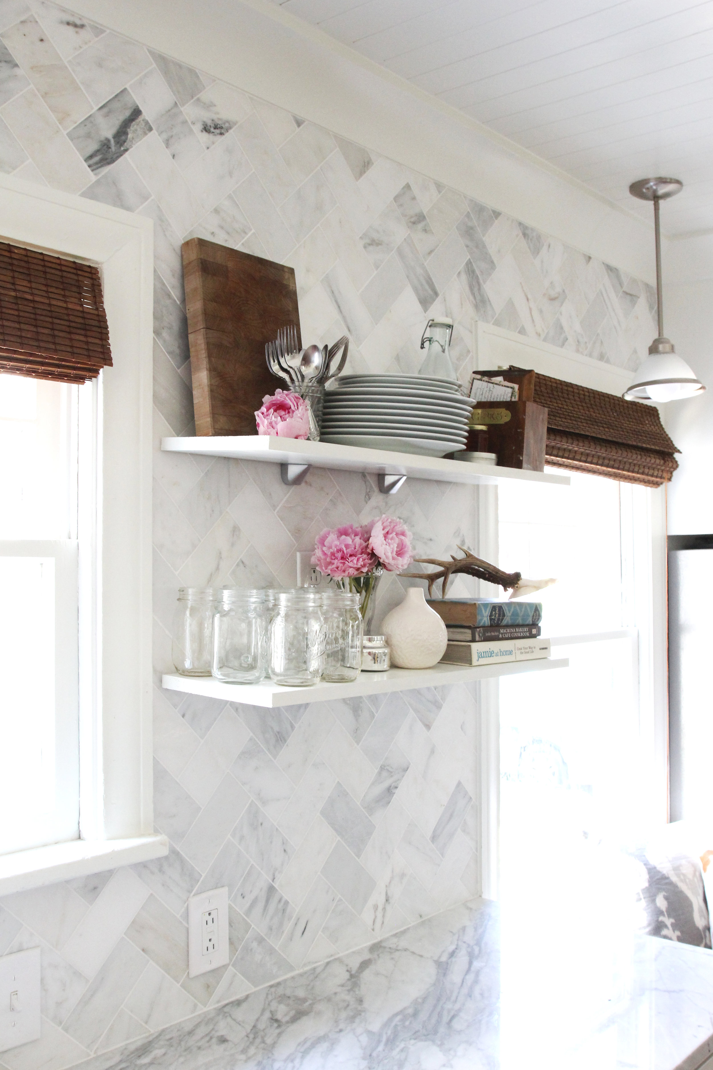 The Grit and Polish - Ravenna Kitchen Open Shelves Styling 3.jpg