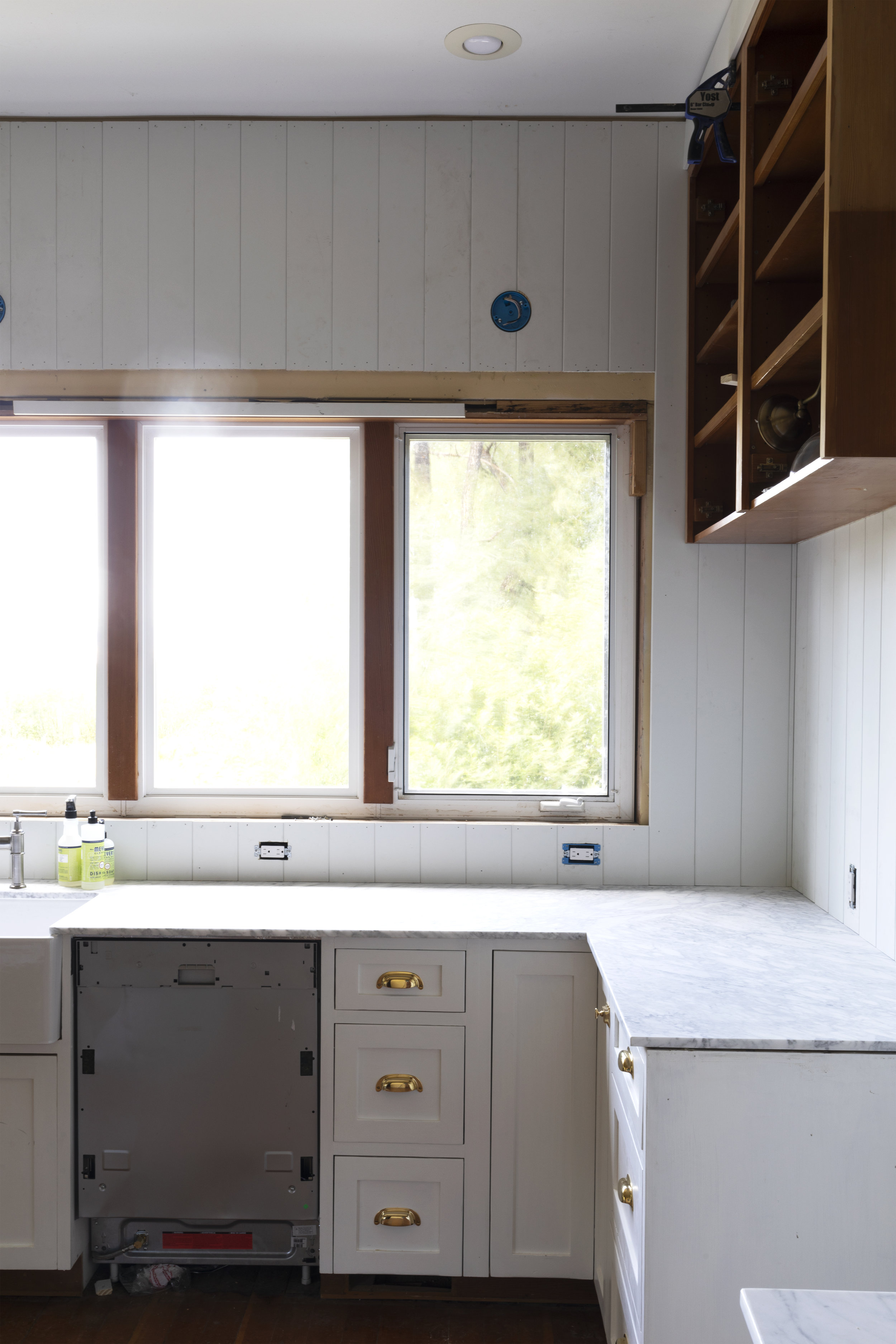 The Grit and Polish - Farmhouse Kitchen July Update Panelling + Windows.jpg