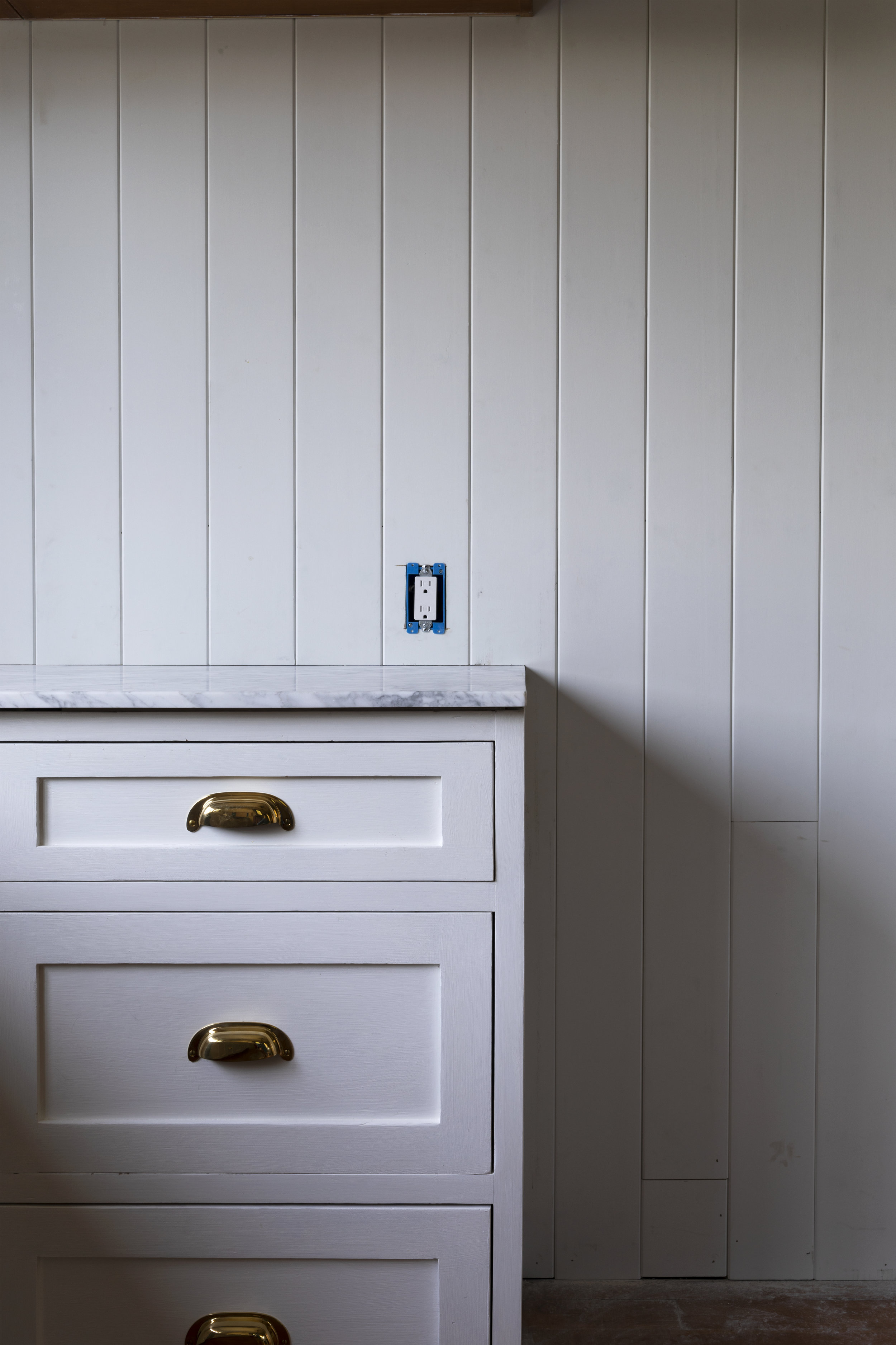 The Grit and Polish - Farmhouse Kitchen July Update Panelling + Cabinet 3.jpg