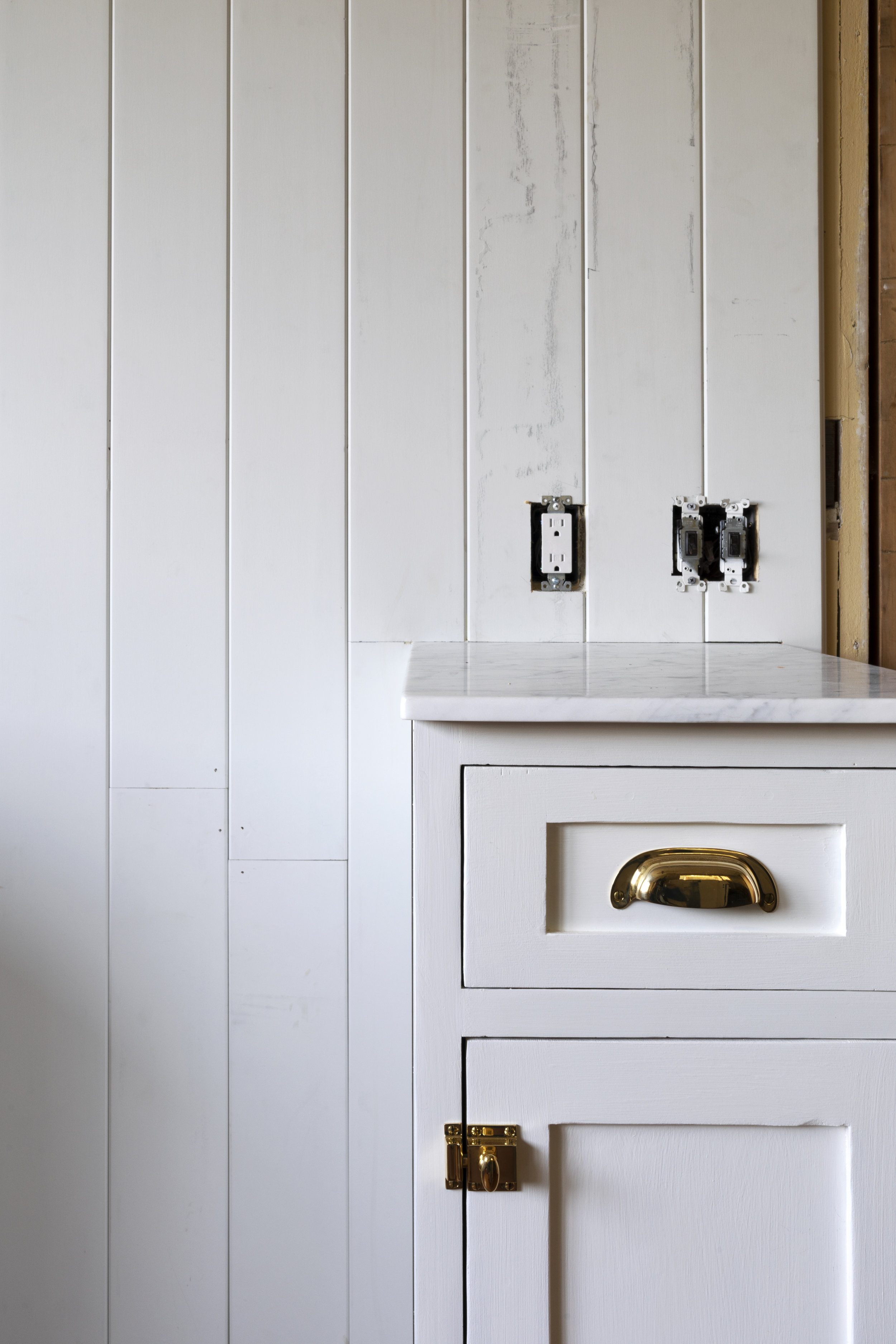 The Grit and Polish - Farmhouse Kitchen July Update Panelling + Cabinet 2.jpg