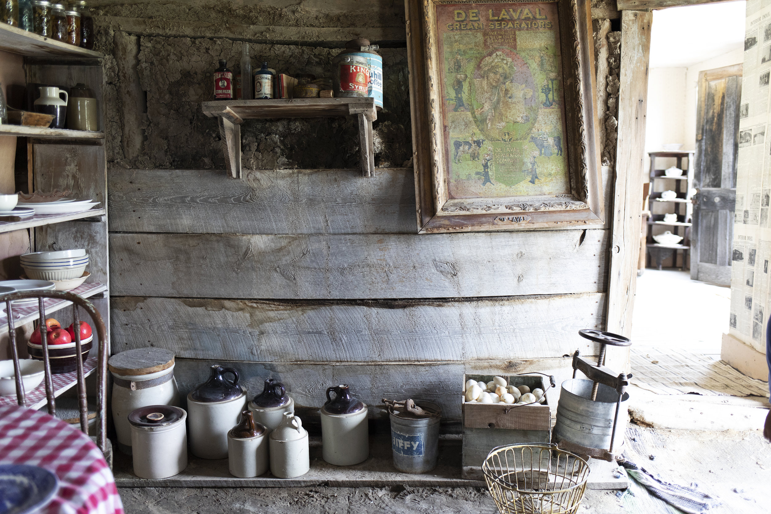 The Grit and Polish - 1906 Homestead South Dakota Sod Kitchen Wall.jpg