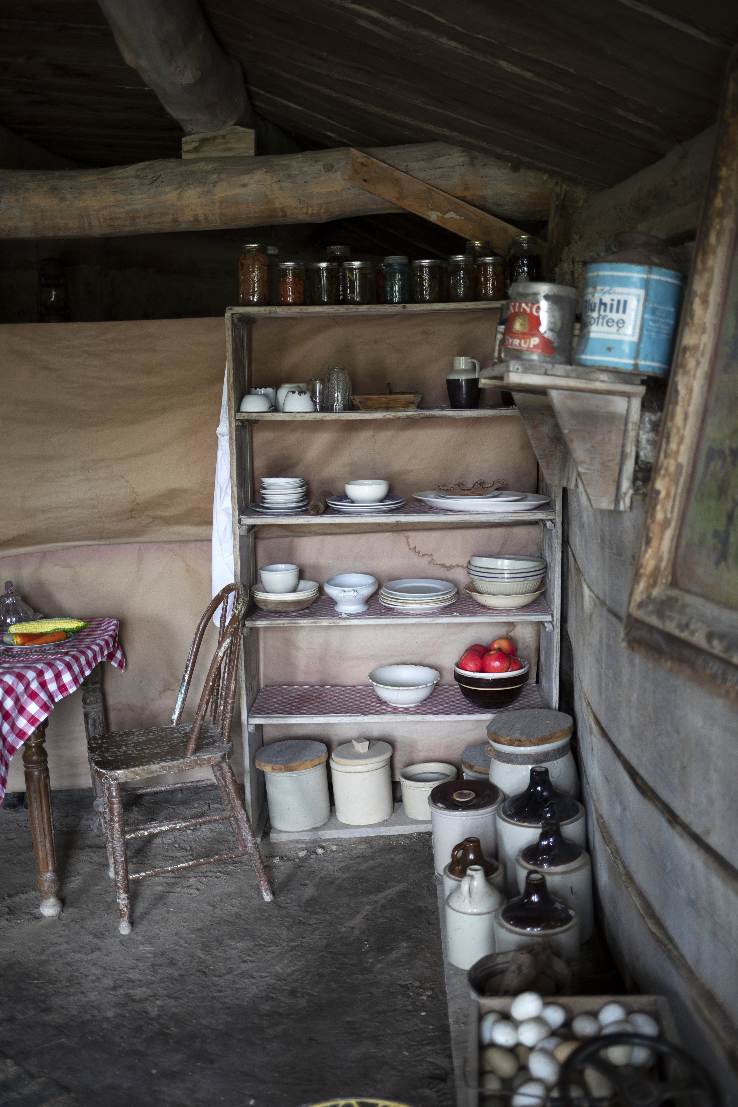 The Grit and Polish - 1906 Homestead South Dakota Dish Storage.jpg