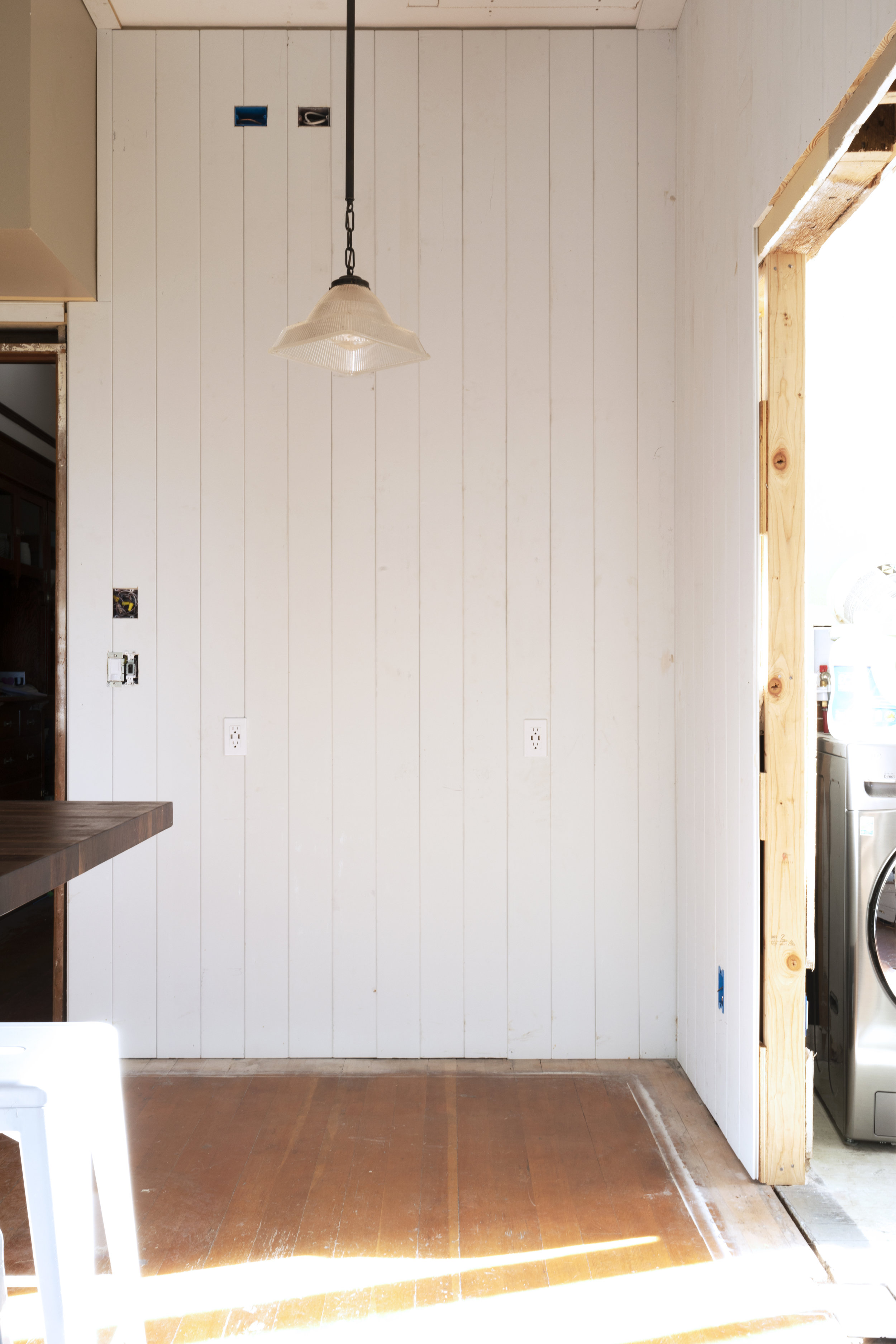 The Grit and Polish - Farmhouse 08-24 Kitchen Update Panelled Wall.jpg