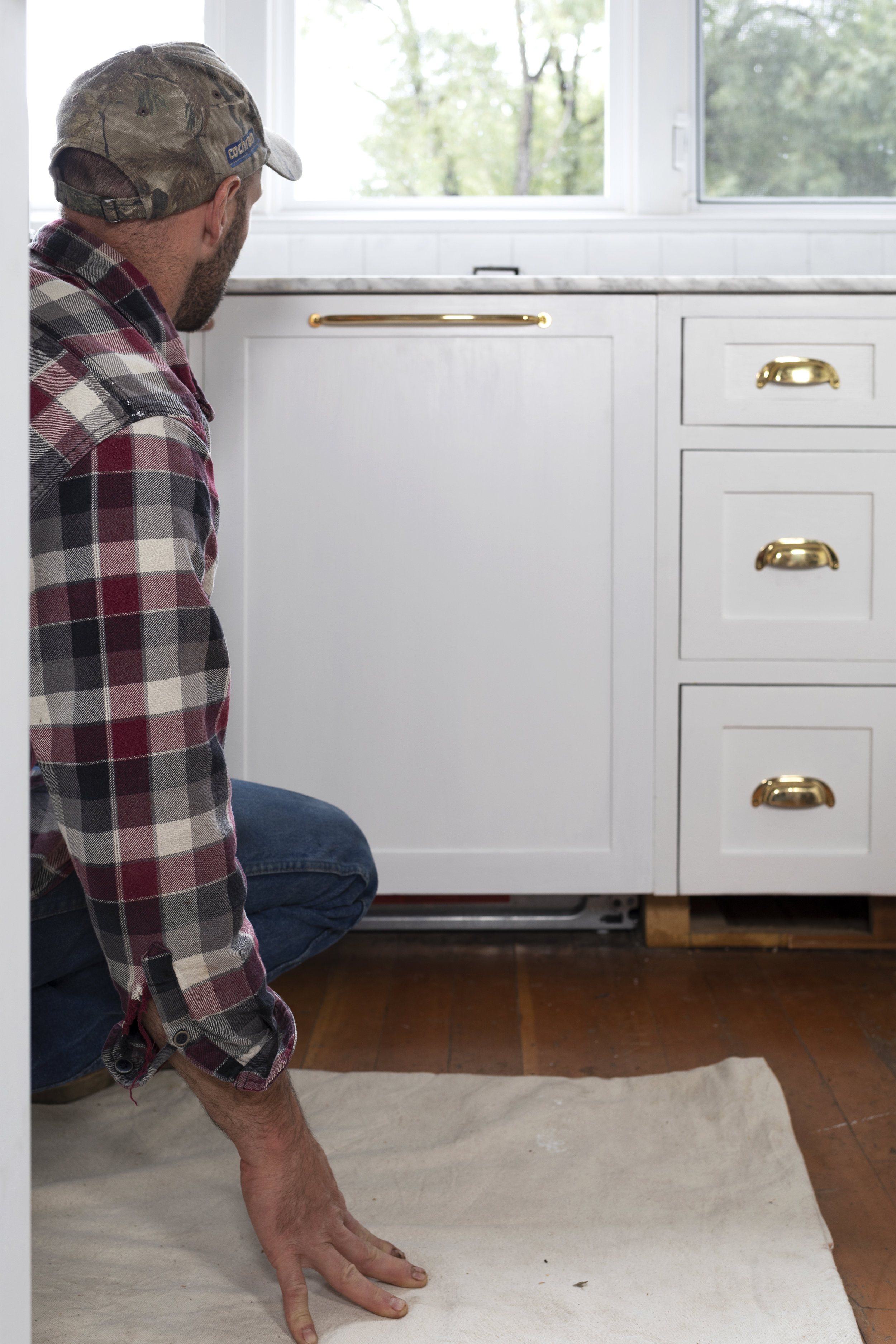 The Grit and Polish - Panel Ready Dishwasher DIY test fit.jpg