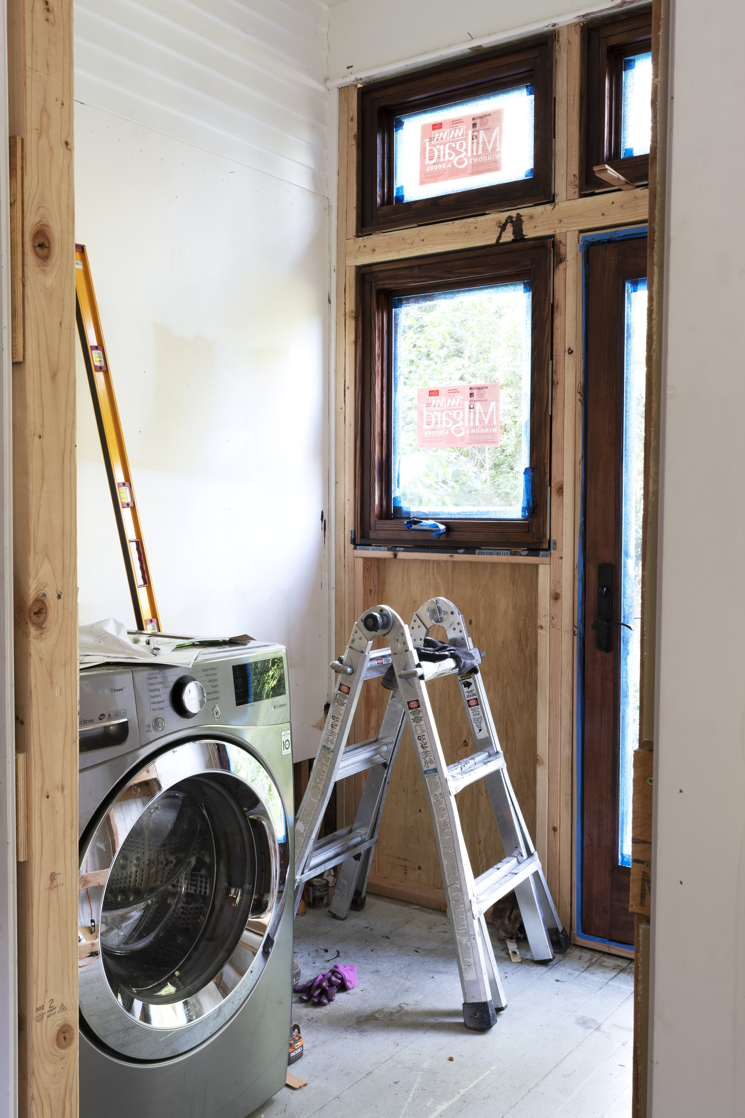 The Grit and Polish - Farmhouse Laundry Room Construction.jpg