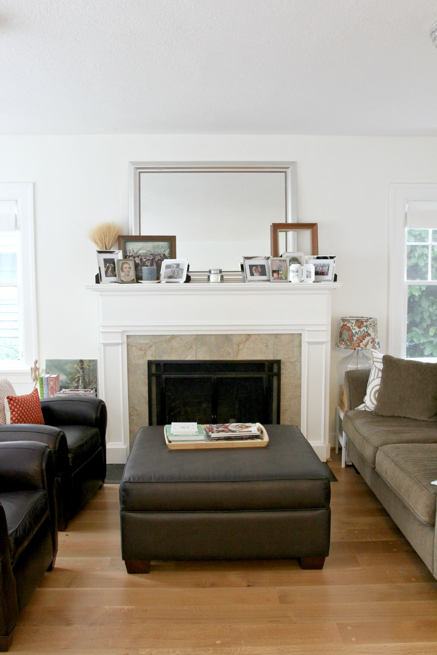 The Grit and Polish - Sissy's Living Room Fireplace