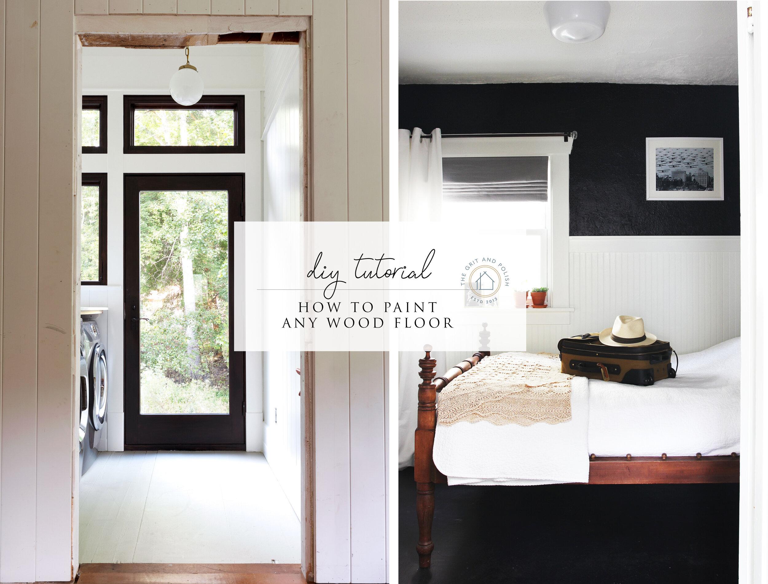 The Grit and Polish - DIY How To Paint Wood Floor.jpg