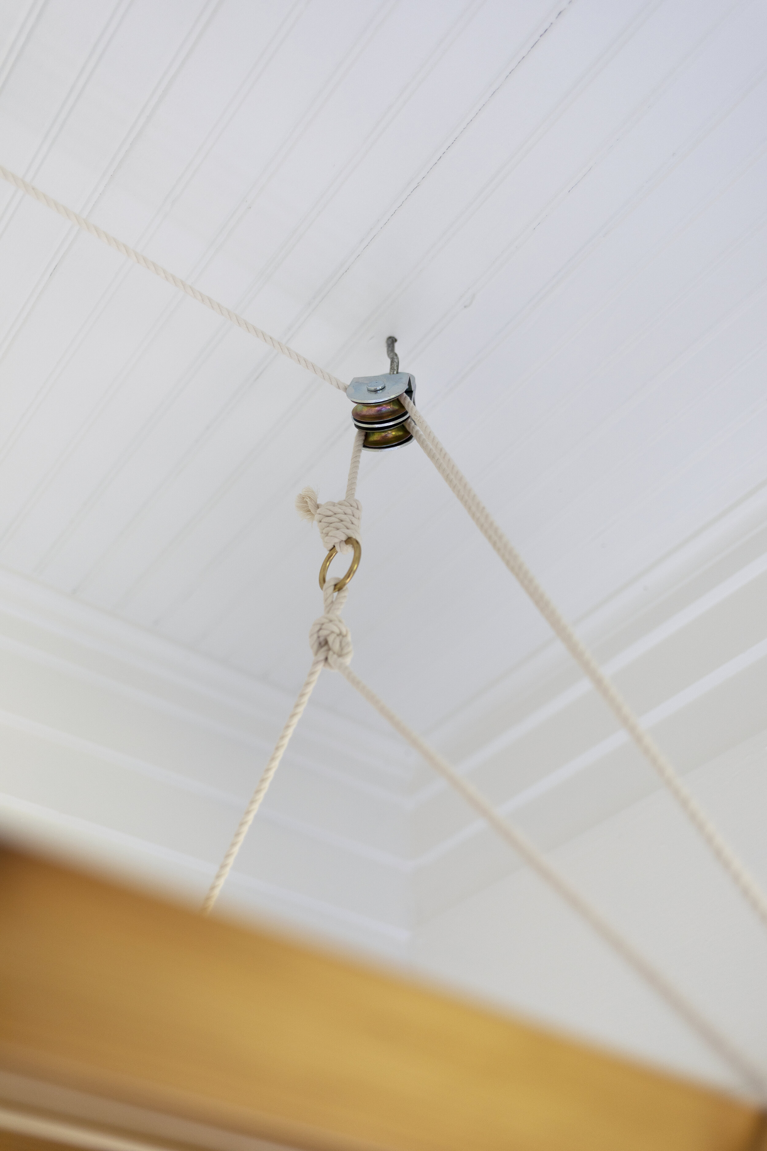 The Grit and Polish - Farmhouse Laundry Hanging Dryer Airer Double Pulley.jpg