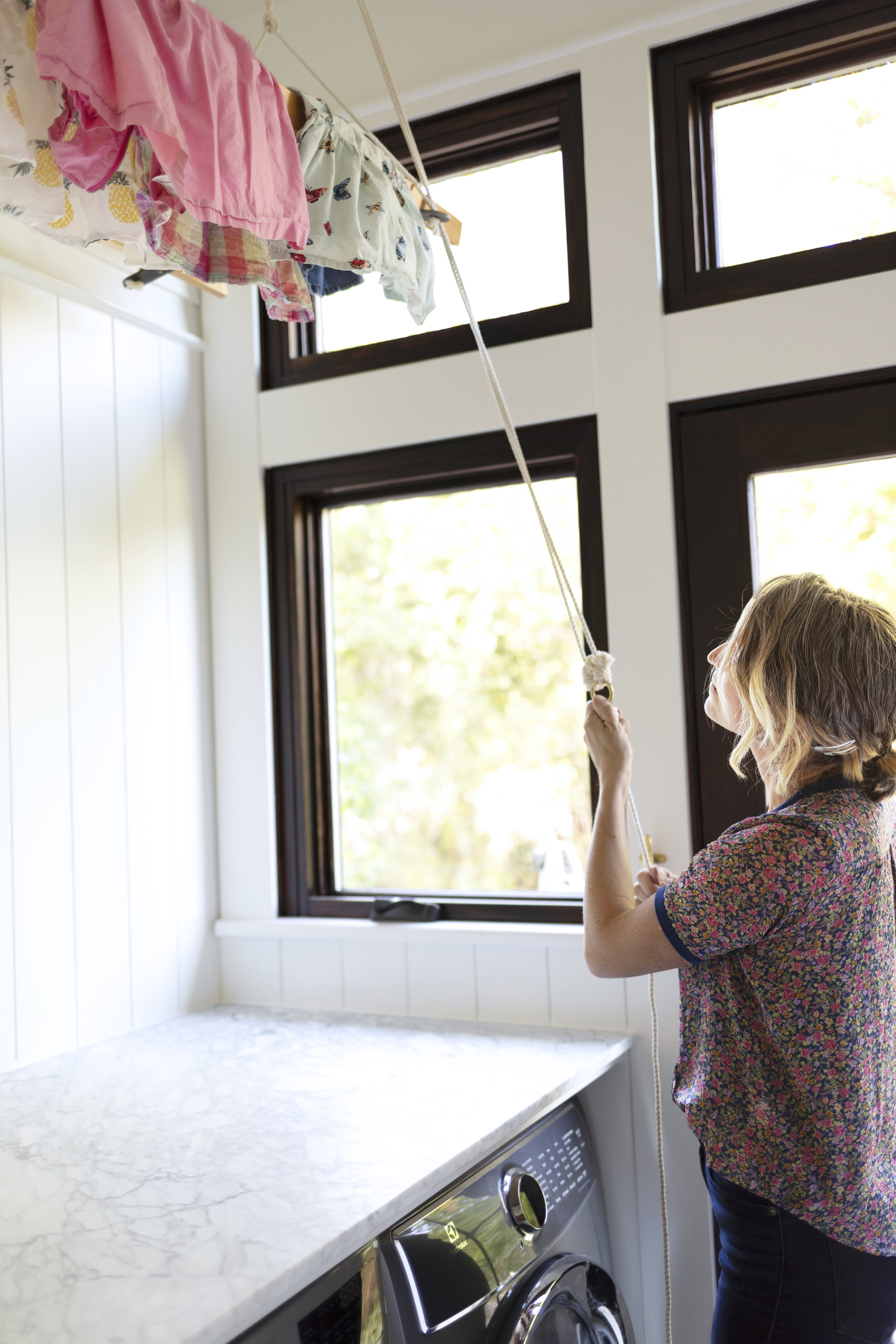 How To Build A Hanging Laundry Rack Aka An English Style Airer The Grit And Polish