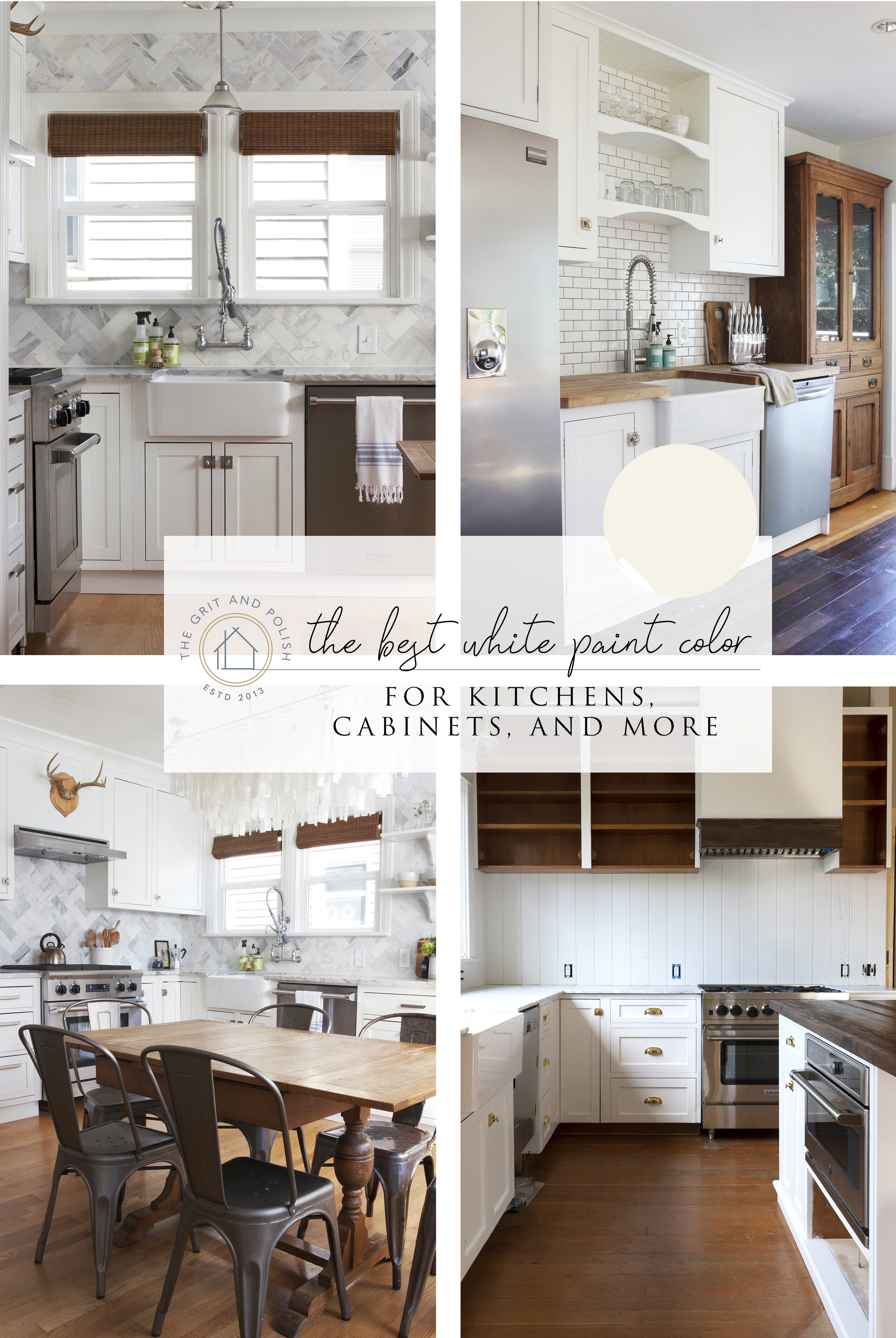 Our Favorite White Paint Color for Kitchens & Cabinets — The ...