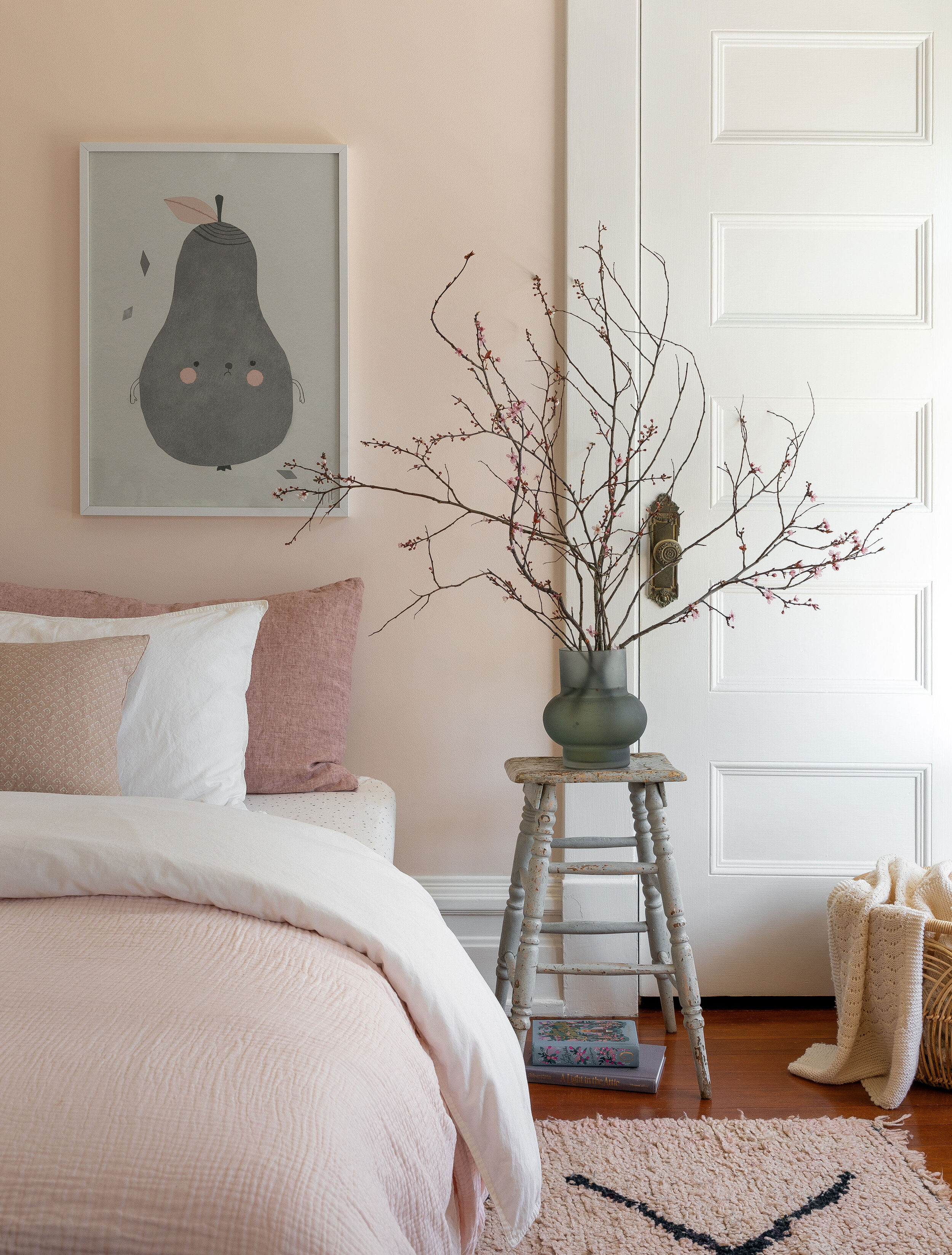 The Grit and Polish | Lisa Staton Bellinham Four Square bedroom pink.jpg
