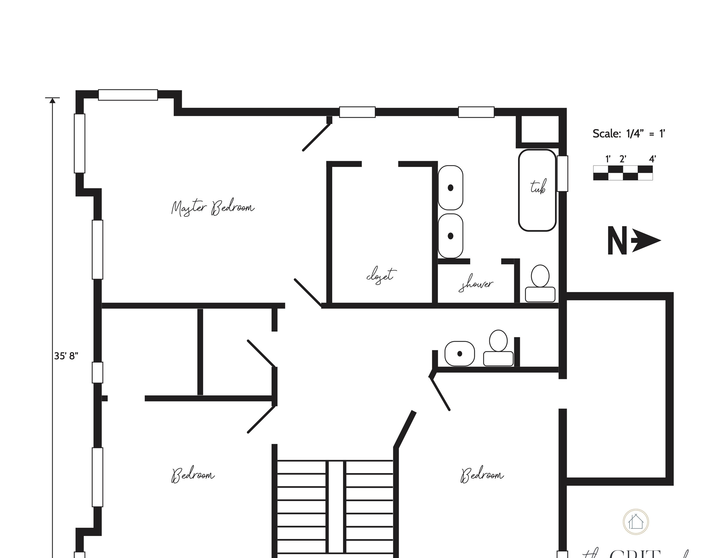 Farmhouse Master Bathroom Floor Plan 2