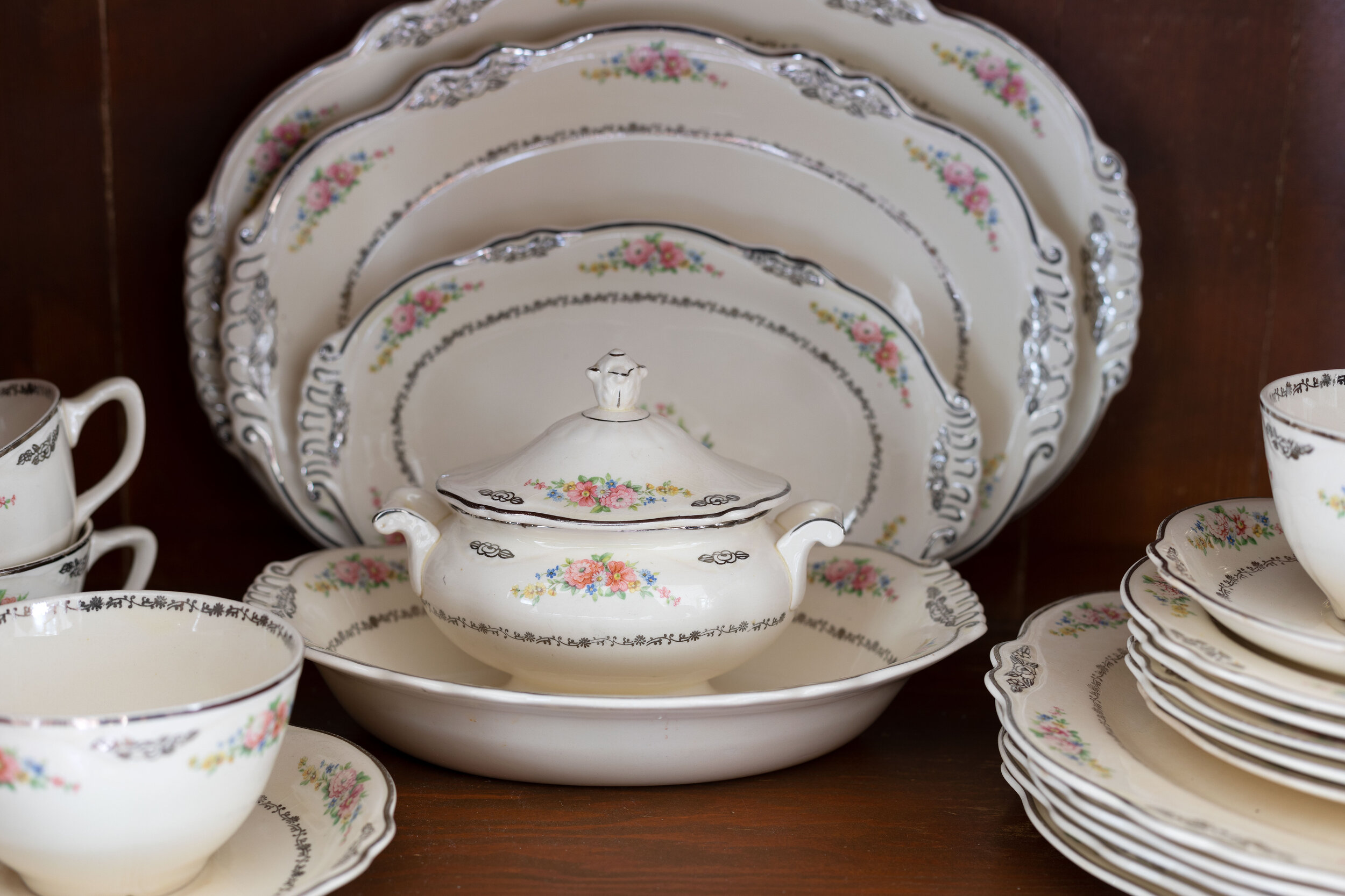 my great grandmother's china tea service (it's over 100 years old!) on www.thegritandpolish.com