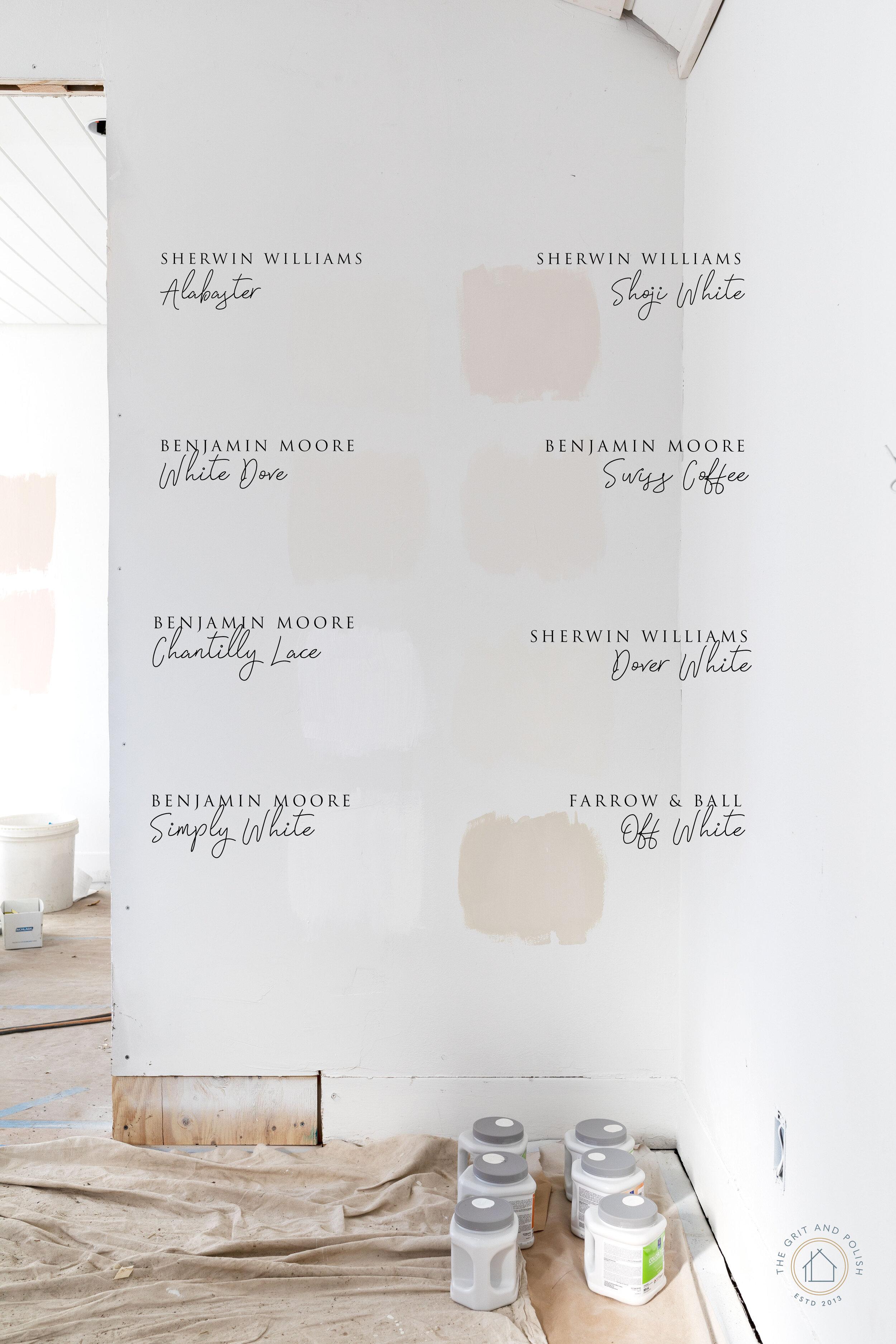 We Sampled 8 Popular Paint Colors... on www.thegritandpolish.com