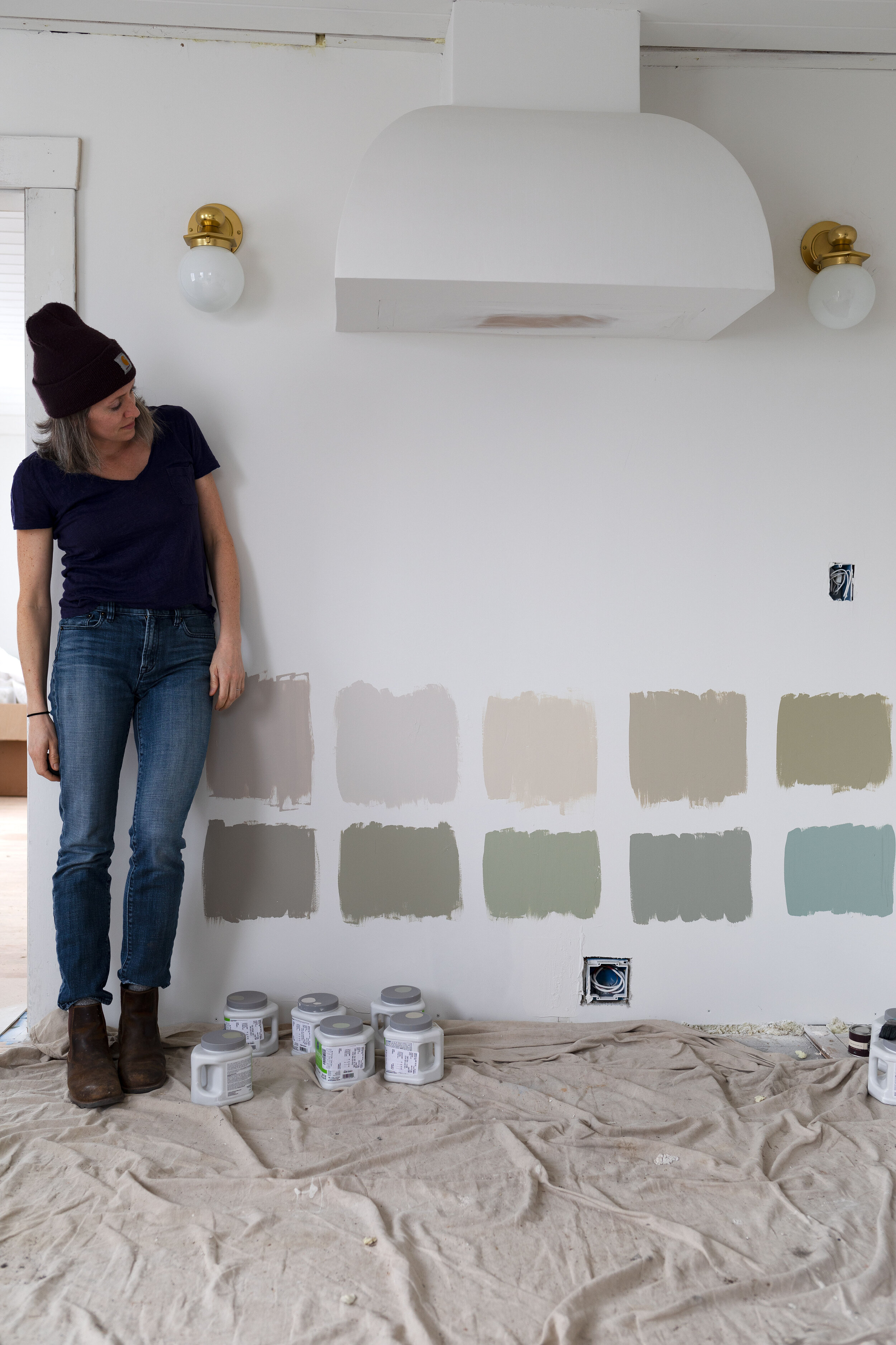 Picking A Cabinet Paint Color For The Poplar Cottage Kitchen Grit And Polish
