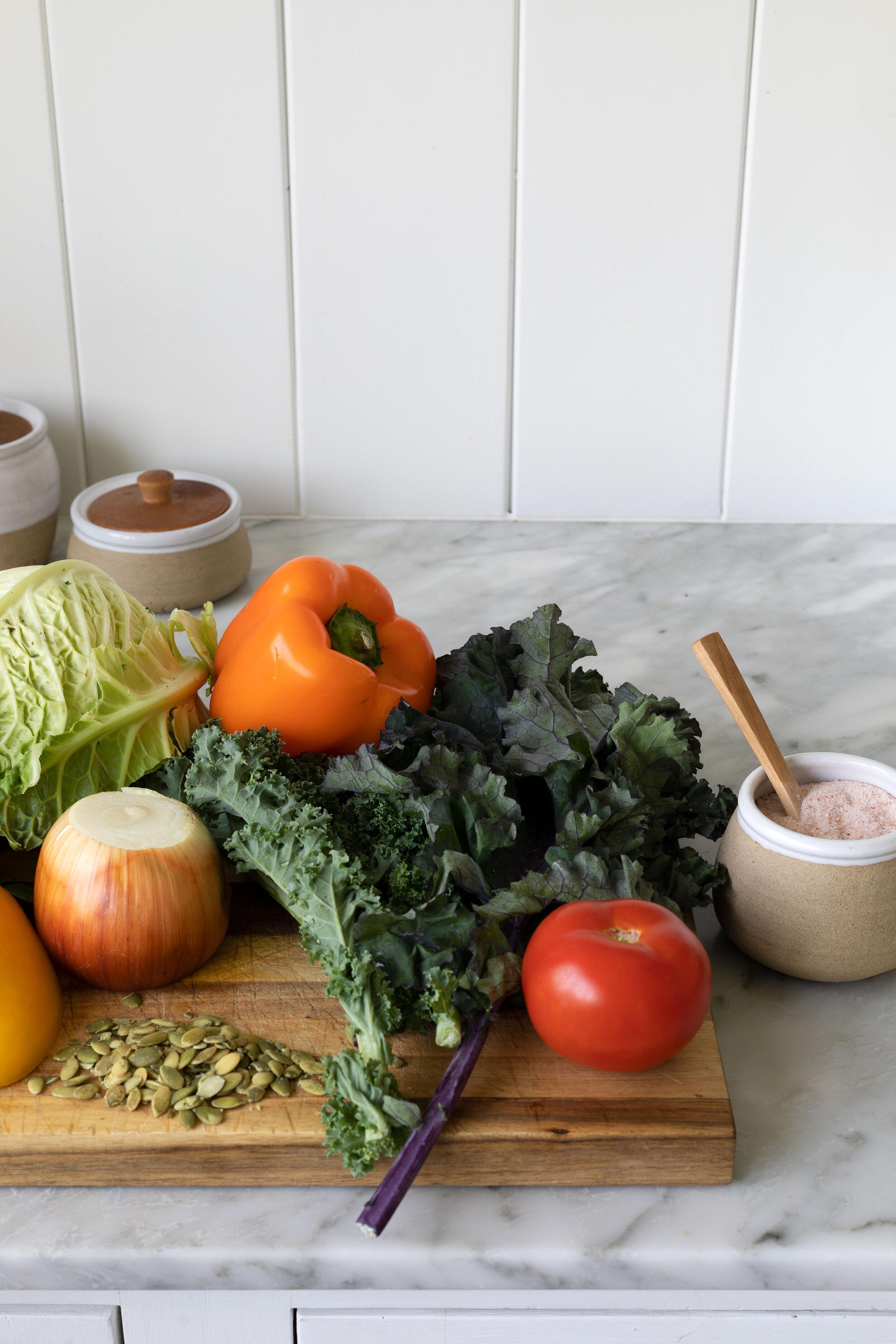 Avocado slaw recipe on www.thegritandpolish.com