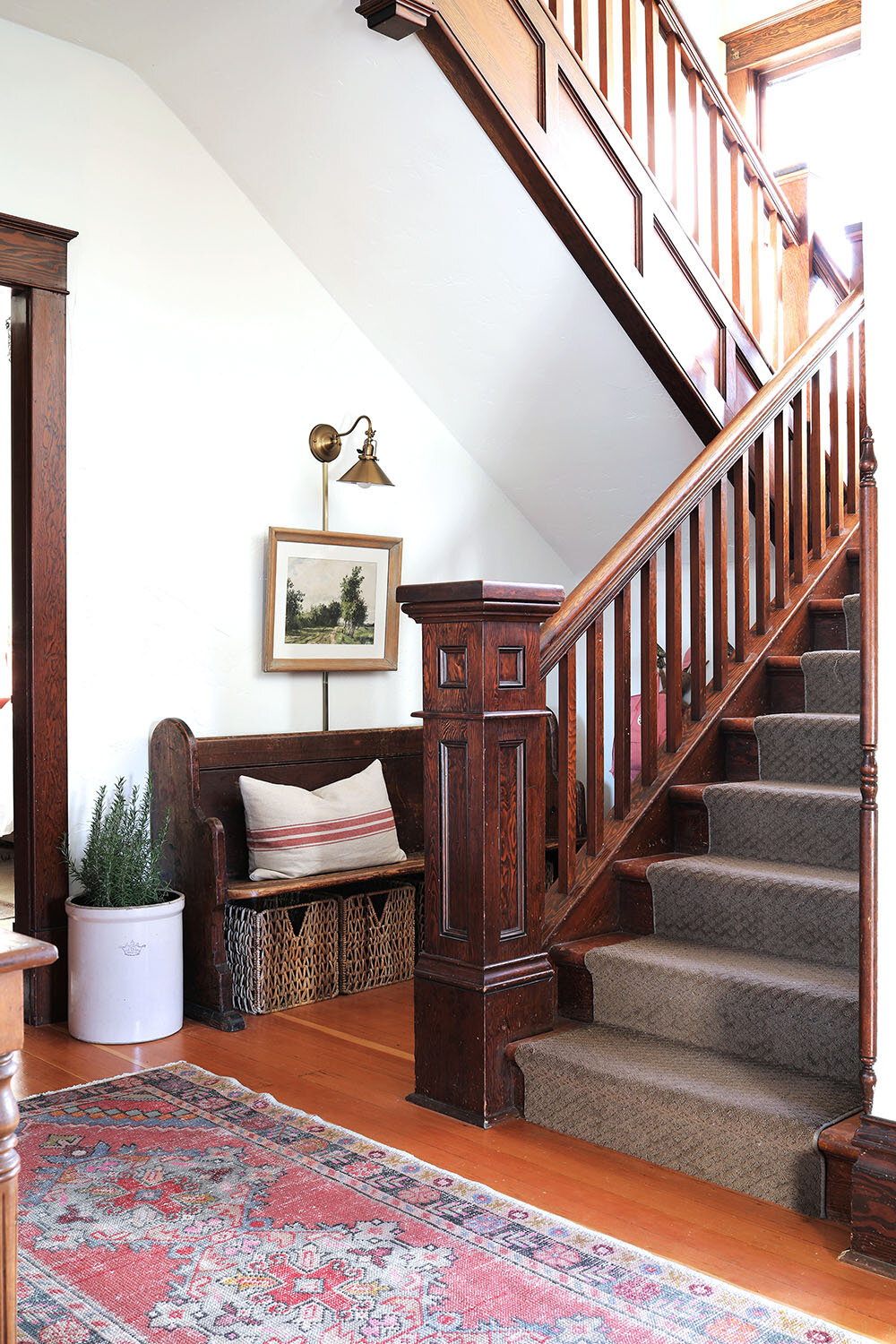 The Grit and Polish - Farmhouse Entryway Staircase SM.jpg