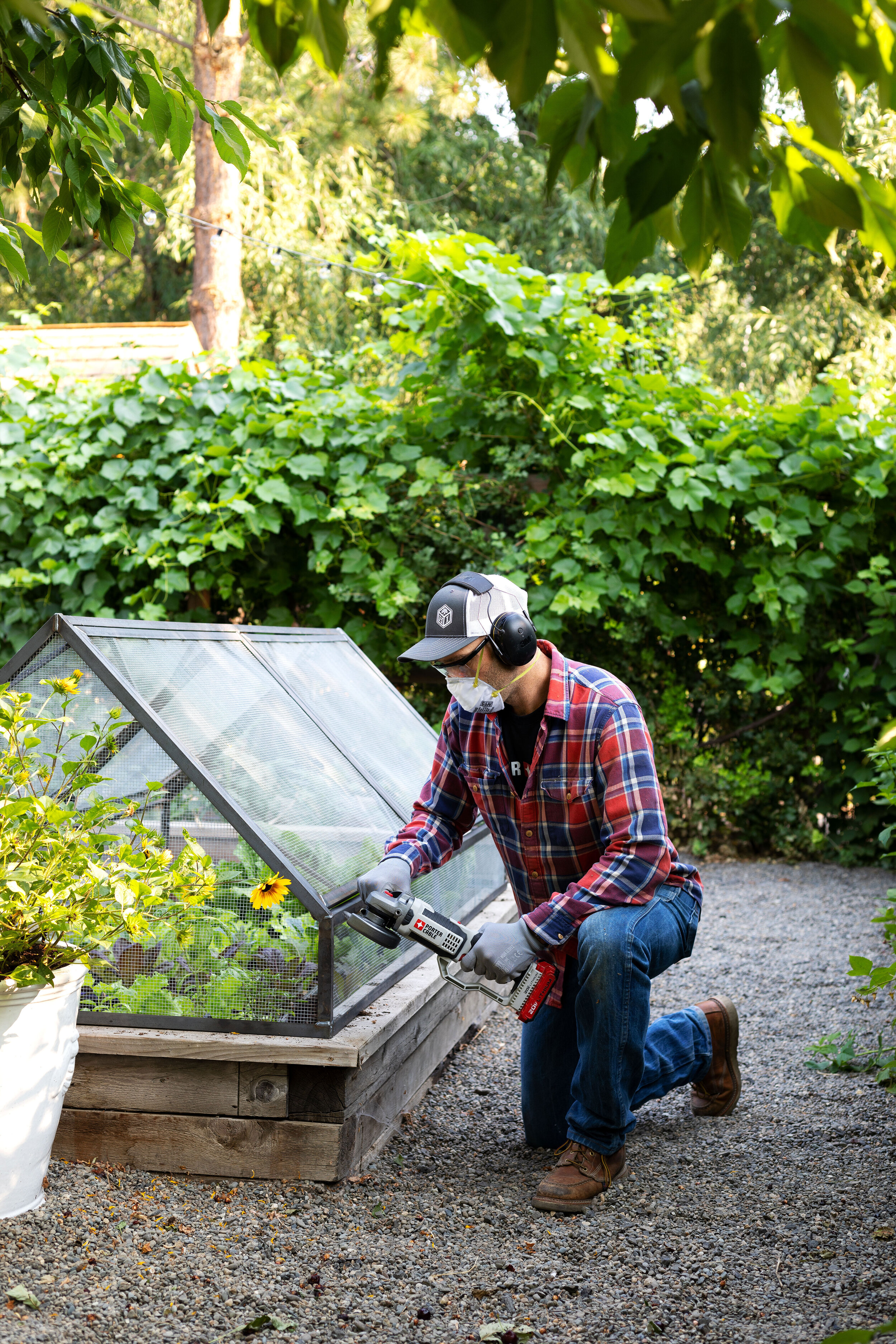 Garrett built me a garden bed cover! | our Farmhouse garden on www.thegritandpolish.com