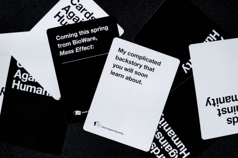 We narrowed down an initial list of over 100 submissions from the CAH team into the final pack of 14 cards.