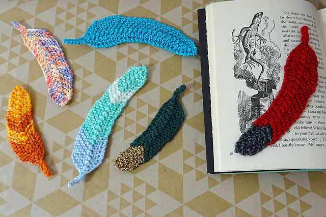 Feather Bookmark  by  Red and the Wolf Designs