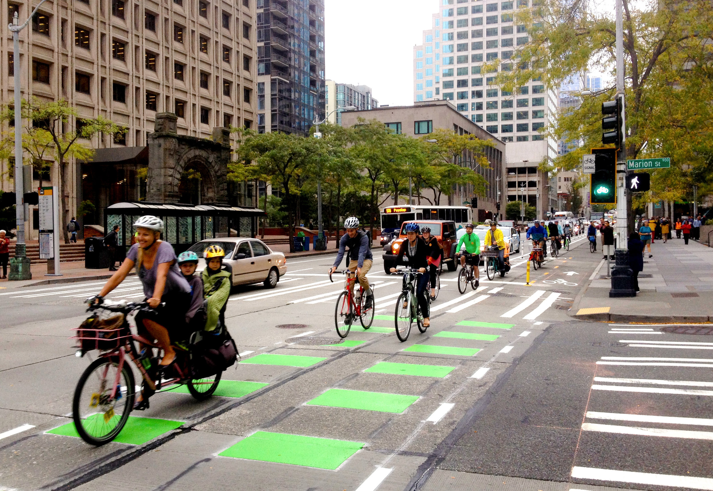 Bike lanes can get people out of cars.