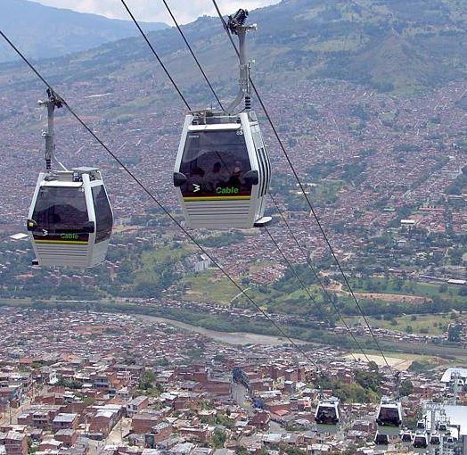 Medellín's commuter gondolas.