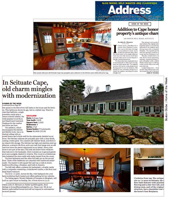 Boston Globe Home of the Week