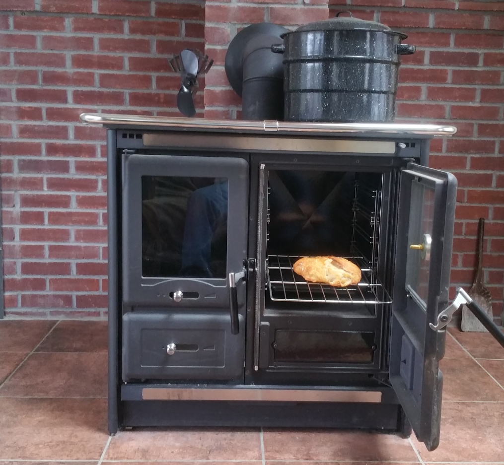 Heating, canning, and baking with a modern wood-fired oven. Energize Vermont