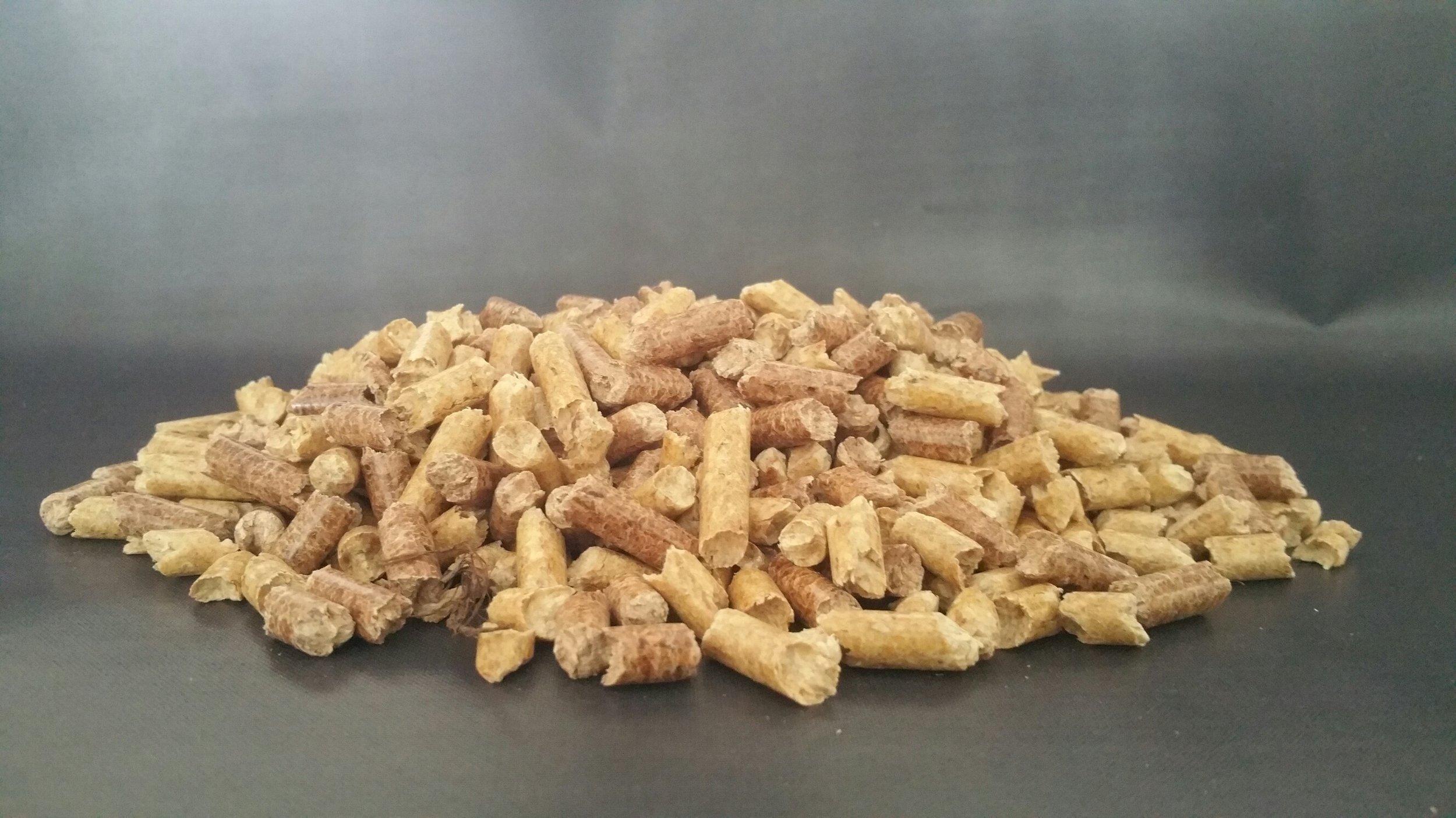Wood pellets. Energize Vermont.