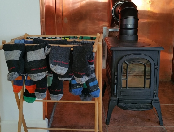Drying a week's worth of socks. Energize Vermont