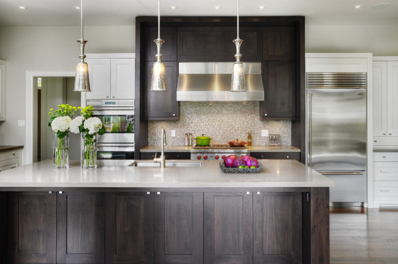 Karin Ross Designs specializes in clean transitional kitchen looks.