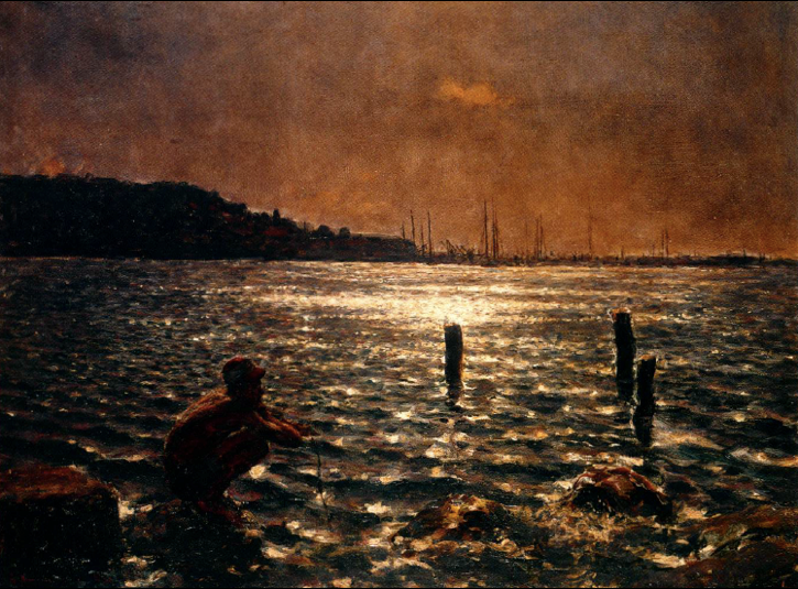 Armando García Menocal (1863‒1942),  Nighttime at the Bay , c. 1930, Oil on canvas.