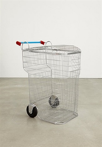 Fig 1.5 . Los Carpinteros,  Trash-shopping cart , 2008, chrome steel, plastic. Courtesy of artnet.