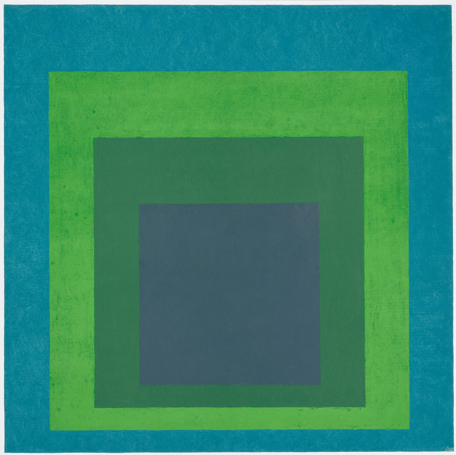 Figure 24: Josef Albers,  Homage to the Square: Soft Spoken,  1969  Oil on Masonite, 121.9 x 121.9 cm Collection of the Metropolitan Museum of Art
