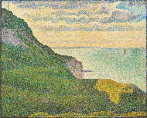 Figure 16: Georges Seurat,  Seascape at Port-en-Bessin, Normandy,  1888 Oil on Canvas, 65.1 x 80.9 cm National Gallery of Art, Washington D.C.