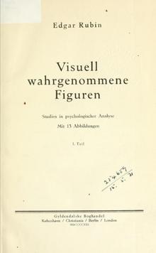 Edgar Rubin,  Visuell wahrgenommene Figuren , 1921