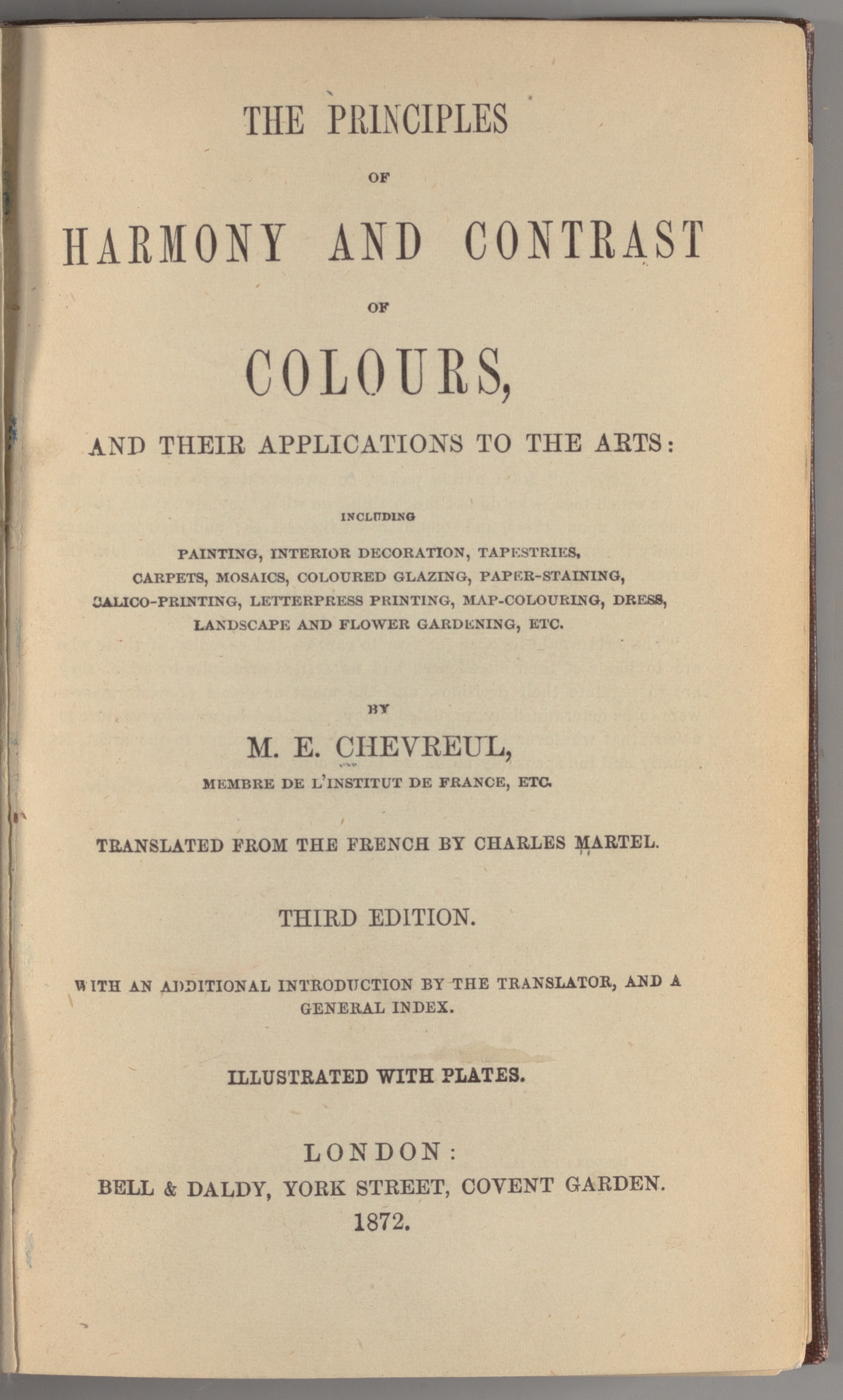 Michel Chevreul,  The Principles of Harmony and Contrast of Colours, and Their Applications to the Arts , 1839