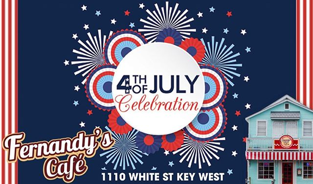Celebration of the 4th of July! 🎇🎆 Dine with us at 1110 st white just 3 blocks from the fireworks at the pier. 🇺🇸🇺🇸 Try our homemade chicken tortilla soup or our barbecue pork ribs.  Now we serve cold beers and sangria. 🍺🍻🥂 Only for today we will close at 1 am. 🕑  Call for delivery 305.295.0159  Order online at fernandyscafe.com