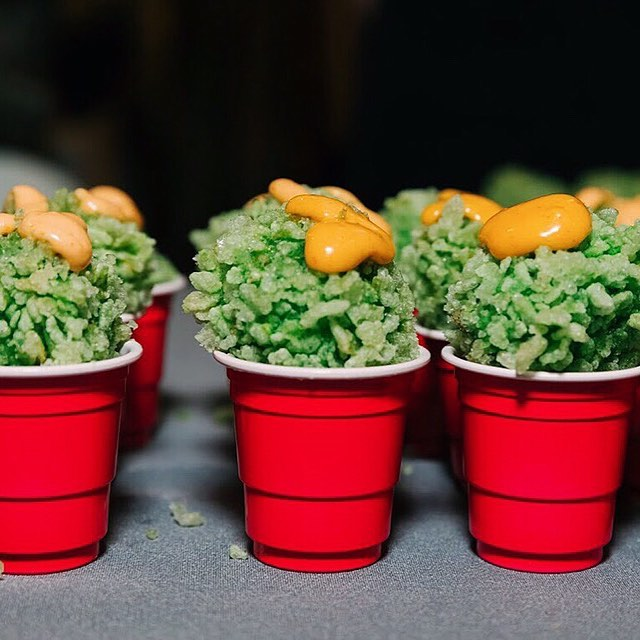 #PPLAFoodFare 2019: Crispy Fried Tofu Balls by @Buttonmashla. • • • • • Check out Button Mash in #LosAngeles or one of our MANY Food Fare participants to reminisce about Food Fare 2019 AND get some of the best food around. • Photo by @aureliadamorephotography • #StandWithPP #PlannedParenthood #NonProfit #Events  #food #foodie #FoodPorn #Yummy #FeedFeed #Eats #Colors #Colorful #Fresh #InstaFood #FoodInspiration #FoodPhoto #FoodStyling #PhotoOfTheDay #PicOfTheDay #BestOfTheDay #InstaGood #InstaMood #InstaDaily #Vegan #Tofu #Shots #Fried