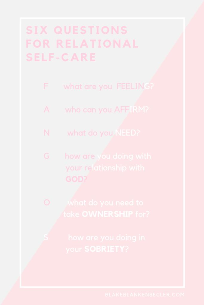 Relational Self-Care