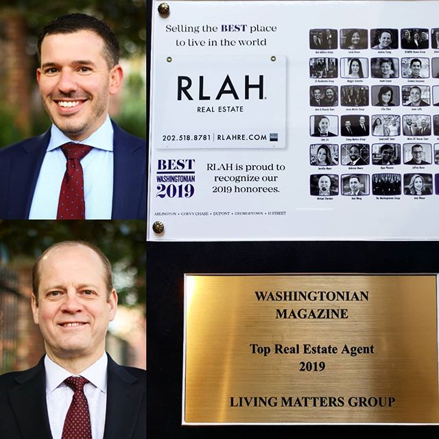 Congratulations to Living Matters agents Joshua Oliver and Jason Holt for receiving the honor of being named by The Washingtonian Magazine, to the elite group of top agents for 2019 🎉🎉 • A huge thank you to our parent company RLAH @rlahdmv! We are truly grateful for your faith and support in our Living Matters team. You stand behind us 💯 and it is appreciated. Totally and completely appreciated, we can't say this enough. To The Washingtonian Magazine @washingtonianmag, thank you so much for the recognition. It is humbling to be mentioned among such a group of amazing realtors and teams! • We wish everyone continued success! Go team RLAH!! Let's keep pushing forward because how we live, truly does matter.