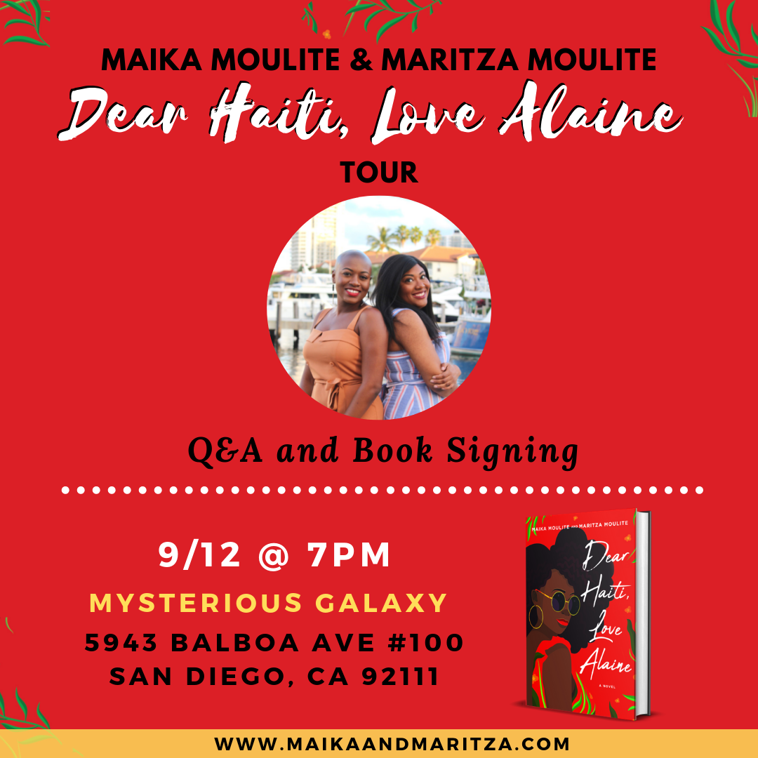 Dear Haiti, Love Alaine Book Tour: San Diego, CA.png
