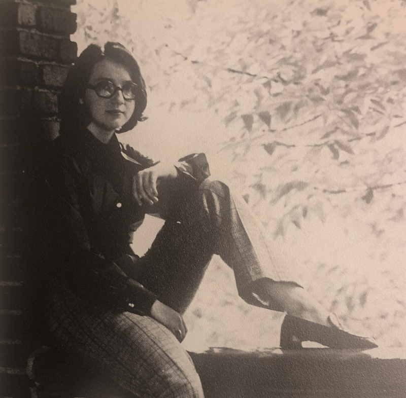 Patricia Werschulz née Patterson as a first year at Chatham, 1968