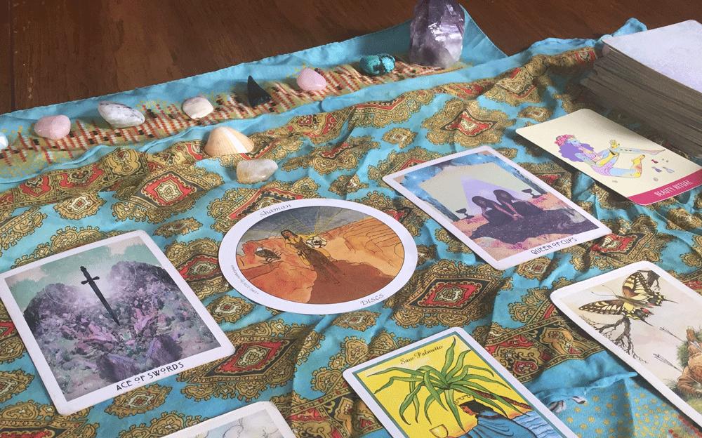 A tarot spread of Lavender's