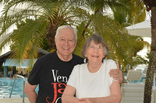 Danna Vance Raupp '59 - A surprise Christmas card in 2010 led Danna to the other side of the world and down the aisle.