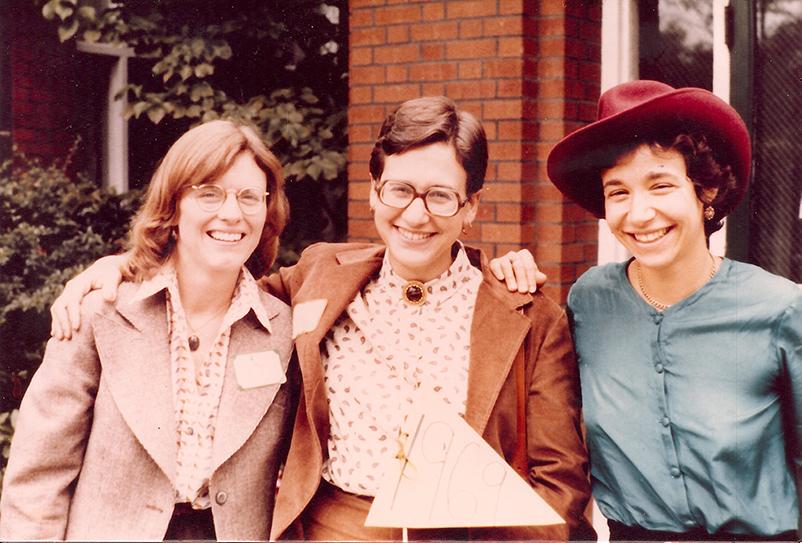 Sarah Bornstein (center) with fellow Chatham class of 1969 alumni.
