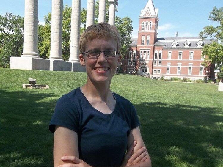 Elizabeth Dorssom Chatham Alumna studies for her PhD in Political Science at Mizzou