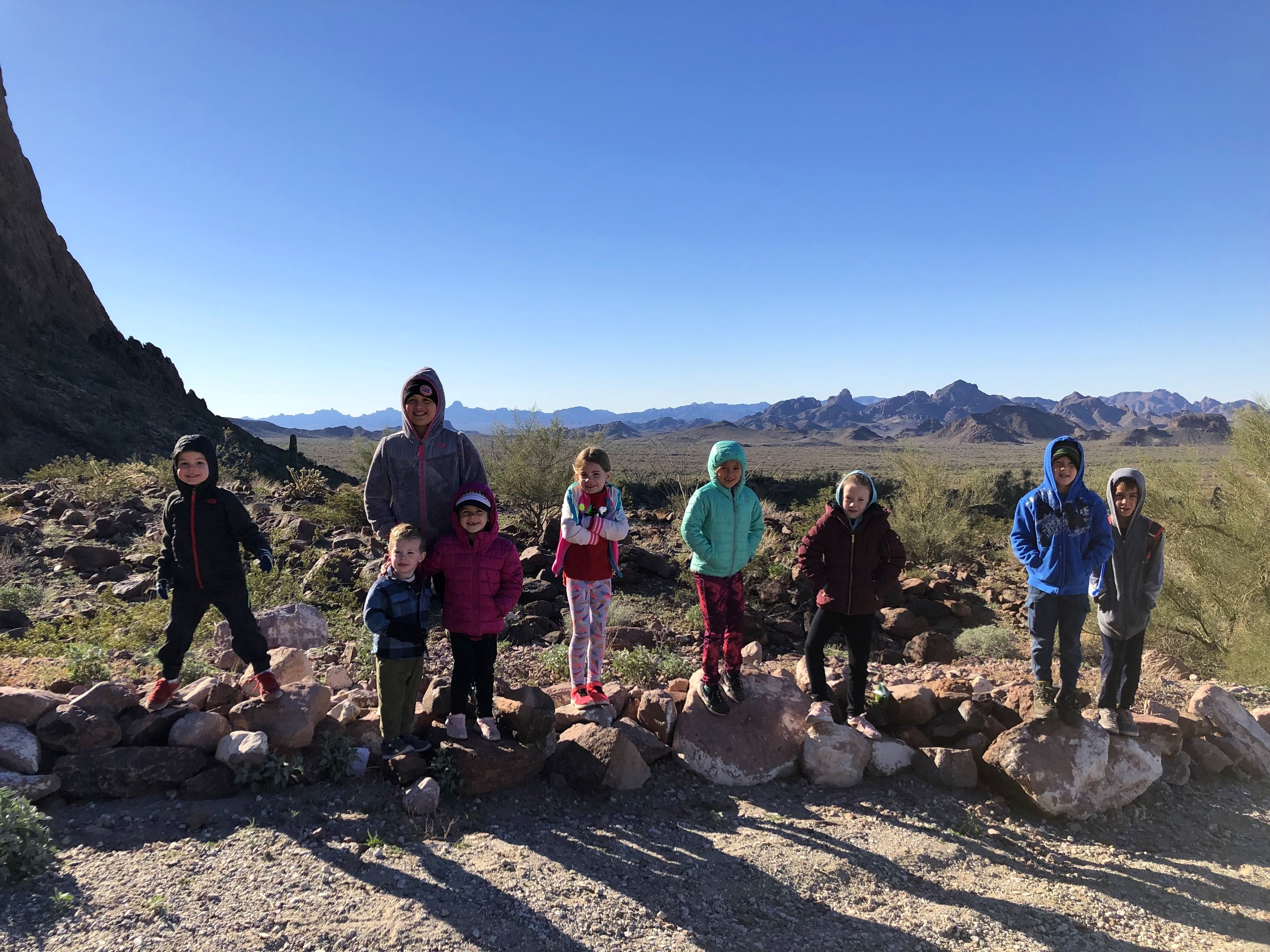 The little hikers did so well, even in with the chilly desert temperatures.